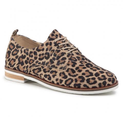 Pantofi casual piele naturala de antilopa cu anaimal print
