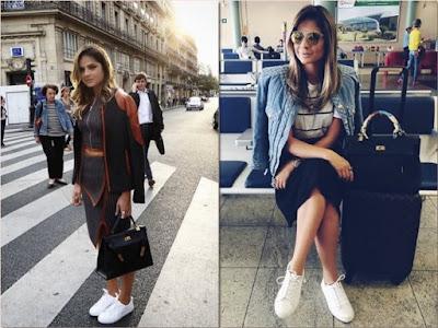 42caed12f17 Estilosas e Fashionistas  Tênis Branco Na Moda ( White sneakers is ...