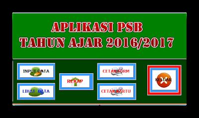 Aplikasi PSB Tahun Ajar 2016/2017 Gratis