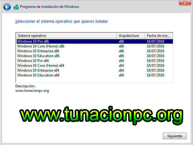 Windows 10 Todas las Versiones Anniversary