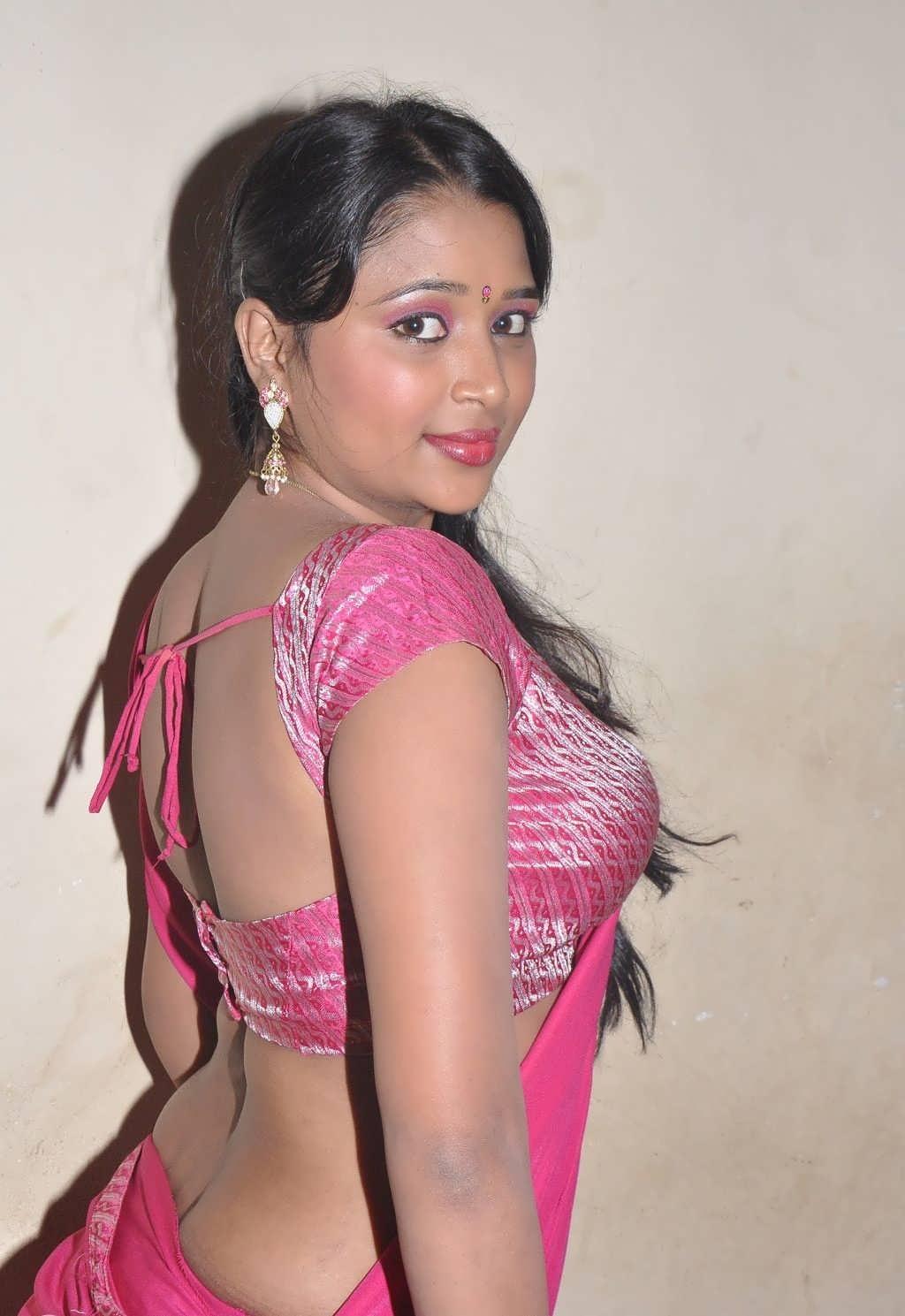 Film Actress India Jothisha Hot Saree Navel Show-1466