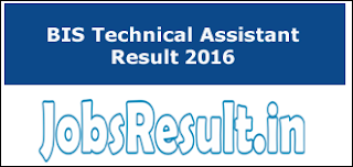 BIS Technical Assistant Result 2016