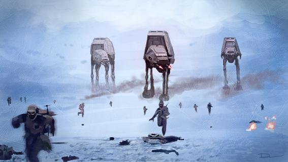 La batalla de Hoth. La guerra de las galaxias