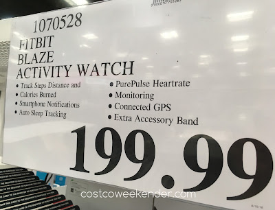 Deal for the Fitbit Blaze Smart Fitness Activity Watch at Costco