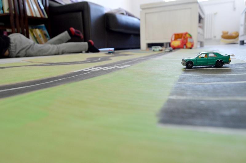 diy carretera cartón juguetes reciclados