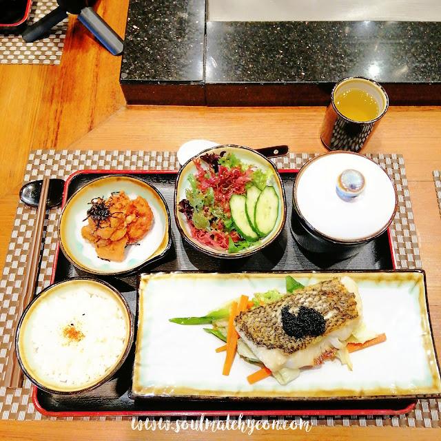 Teppan Cof Fish Set at Teppan Table, Kota Kinabalu Marriott Hotel