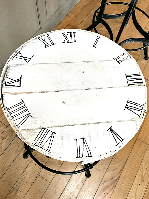 Drawing roman numerals for a clock face