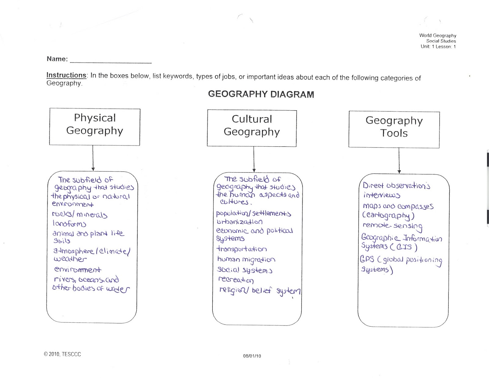 Mr E S World Geography Page Weeks 1 And 2 Chapter 1