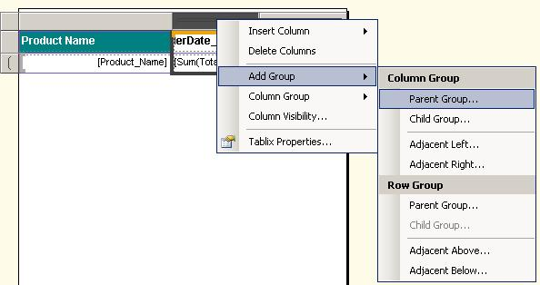 Business Intelligence ROOT DATA: Calculate Column difference in Matrix