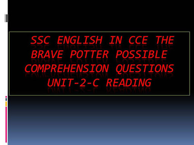 The-Brave-Potter-Possible-Comprehension-Questions-Unit-2-C-Reading
