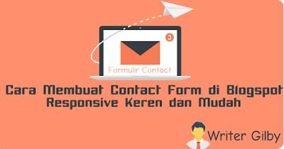 Cara Membuat contact form di blogspot