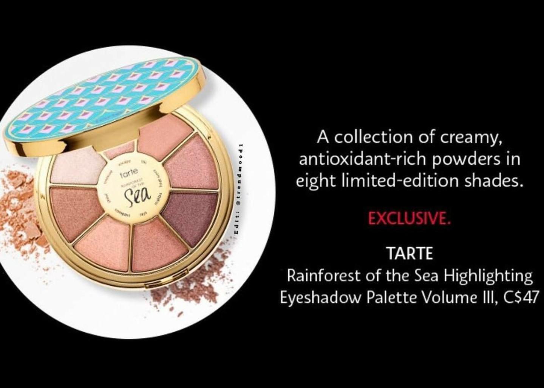 Tarte Rainforest Of The Sea Eyeshadow Palette Volume Iii Sneak 3 Complete Shades Collaboration Limited Edition Peek