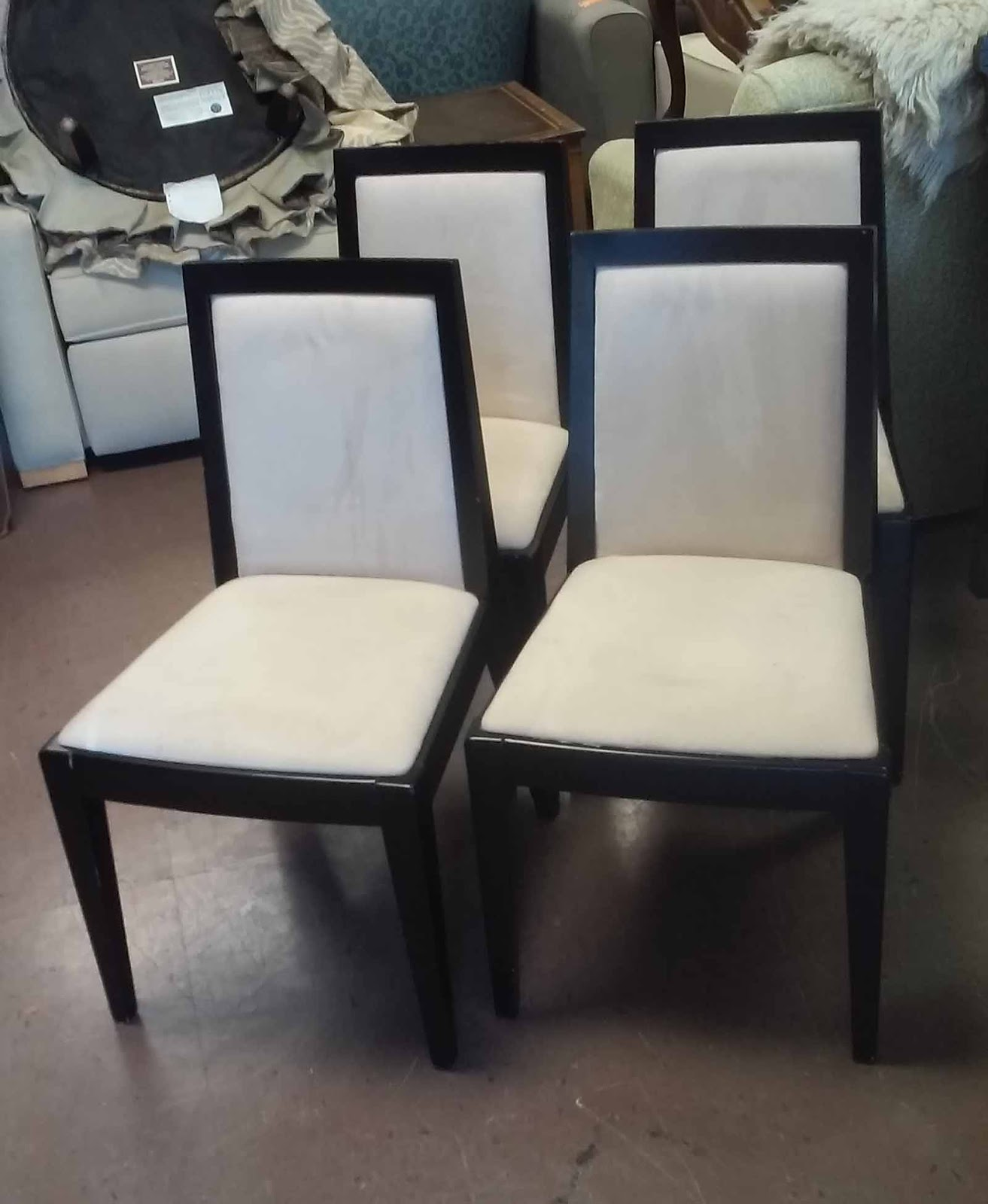 Microfiber Dining Chairs Uhuru Furniture And Collectibles Sold Modern Asian Dining