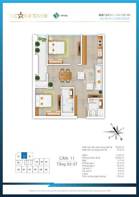 Thiết kế căn hộ 11 - FLC Star Tower
