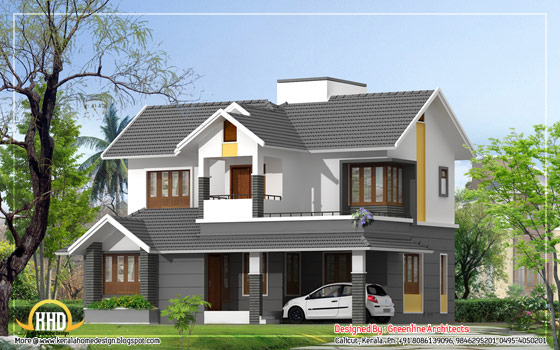 Modern Style Duplex House - 1740 Sq. Ft. (162 Sq. M.) (193 Square Yards)-  March 2012