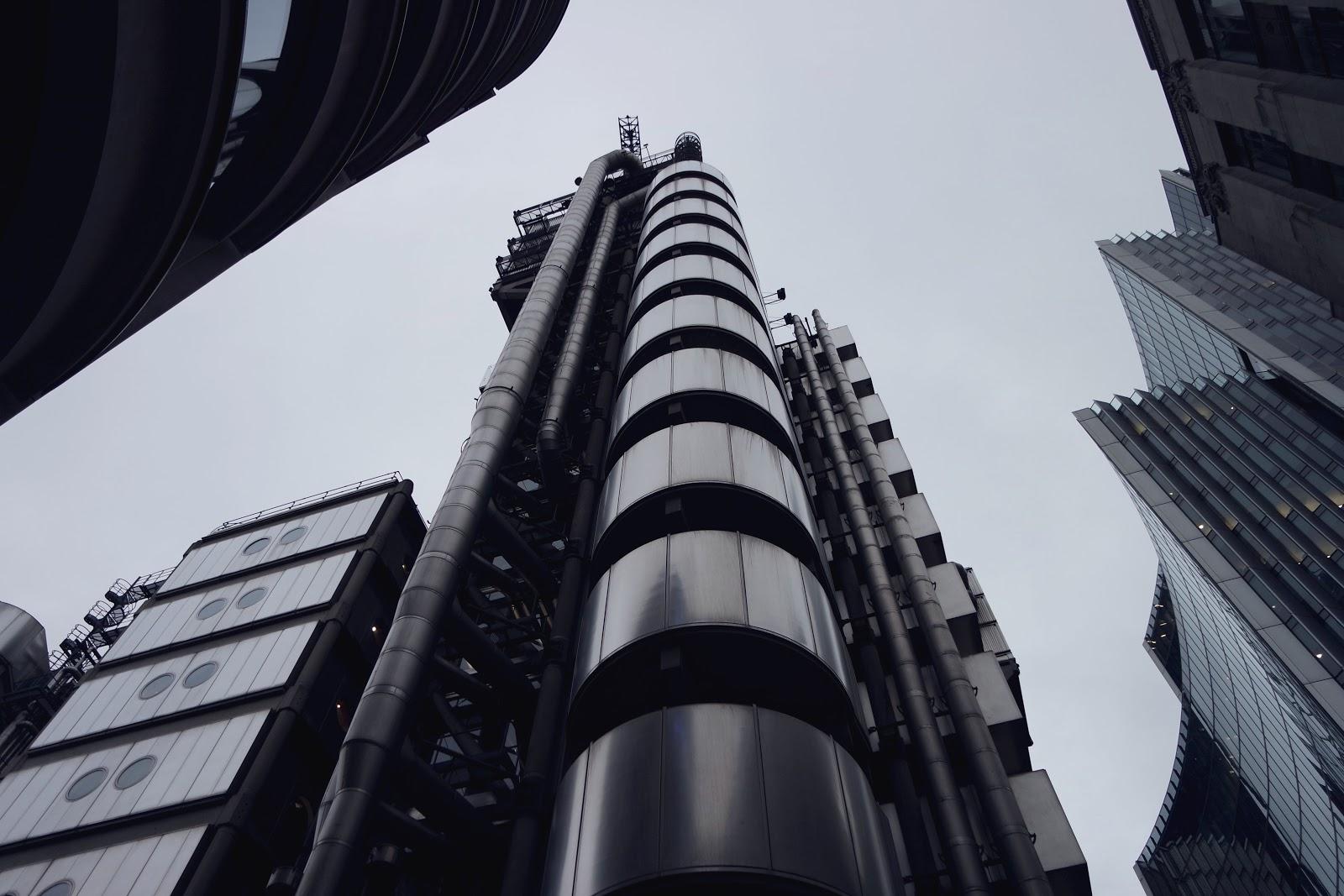 Lioyd's of London, richard rogers, pompidou, London, blog, Londres, South Bank, City of London, London street,