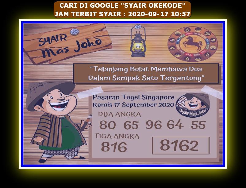 Kode syair Singapore Kamis 17 September 2020 92