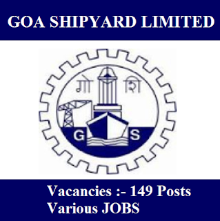 Goa Shipyard Limited, GSL, Goa, 10th, freejobalert, Sarkari Naukri, Latest Jobs, gsl logo