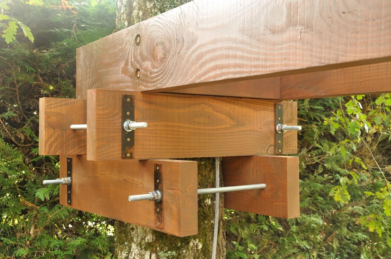 d tail de la fixation l 39 arbre la cabane de prout et nonosse. Black Bedroom Furniture Sets. Home Design Ideas