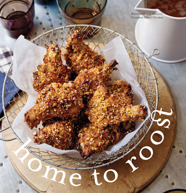 Buttermilk Almond Crumbed Baked Chicken Recipe