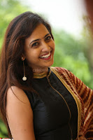 Lasya looks super cute in black choli Saree at Raja Meru Keka Press Meet ~  Exclusive 011.JPG