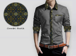 Kemeja Batik Pria Simple 2016