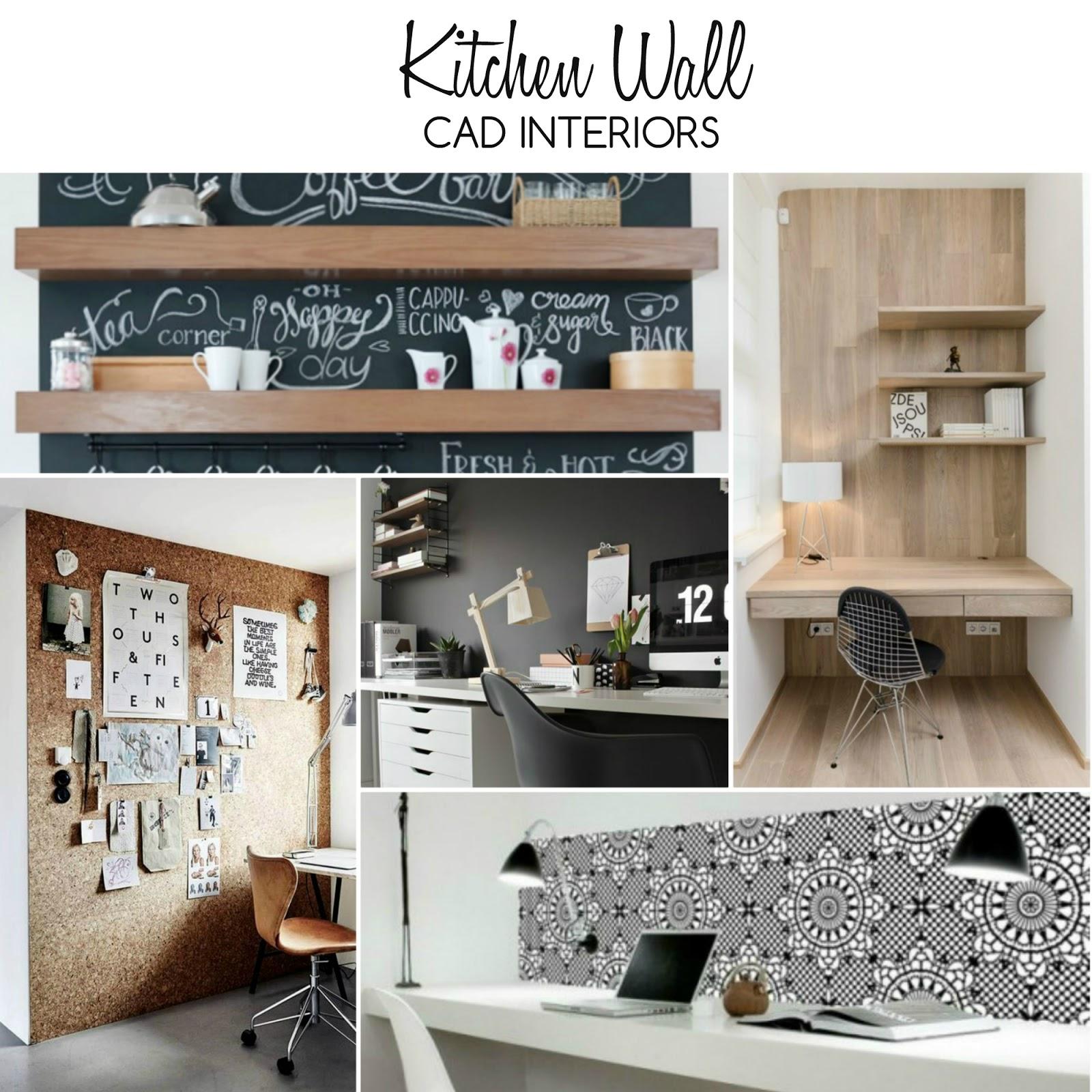 kitchen office workspace interior design