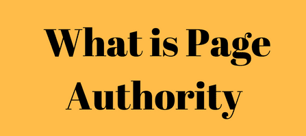 Whay is Page Authority