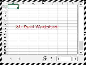 MS Excel Worksheet