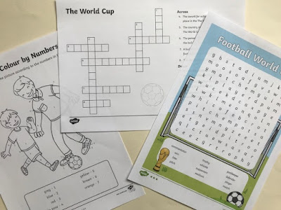 World Cup printables from Twinkl resources