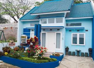 Villa Di Batu Desain Minimalis   Villa Biru