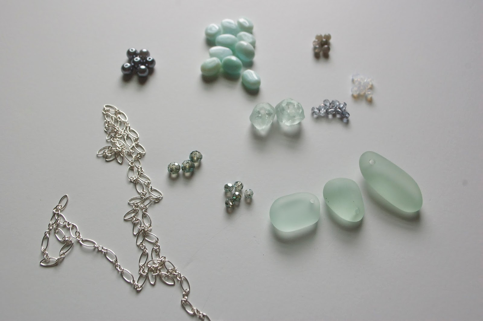 Diy Sea Glass Necklace My Girlish Whims