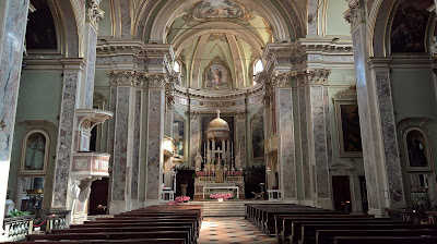 Interior of Sant'Alessandro della Croce.