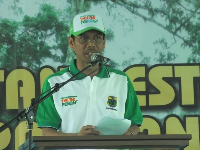 Gerakan Penghijauan LDII Bersama MUI Dan Bupati Bondowoso