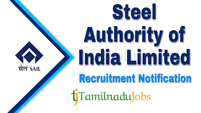 SAIL recruitment 2019, SAIL Notification 2019