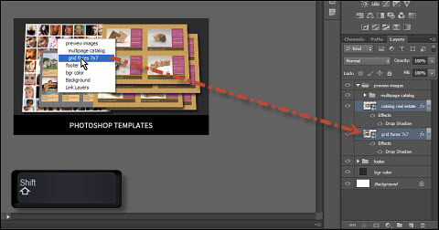 Selecting Layers and Groups in Photoshop Using Move Tool