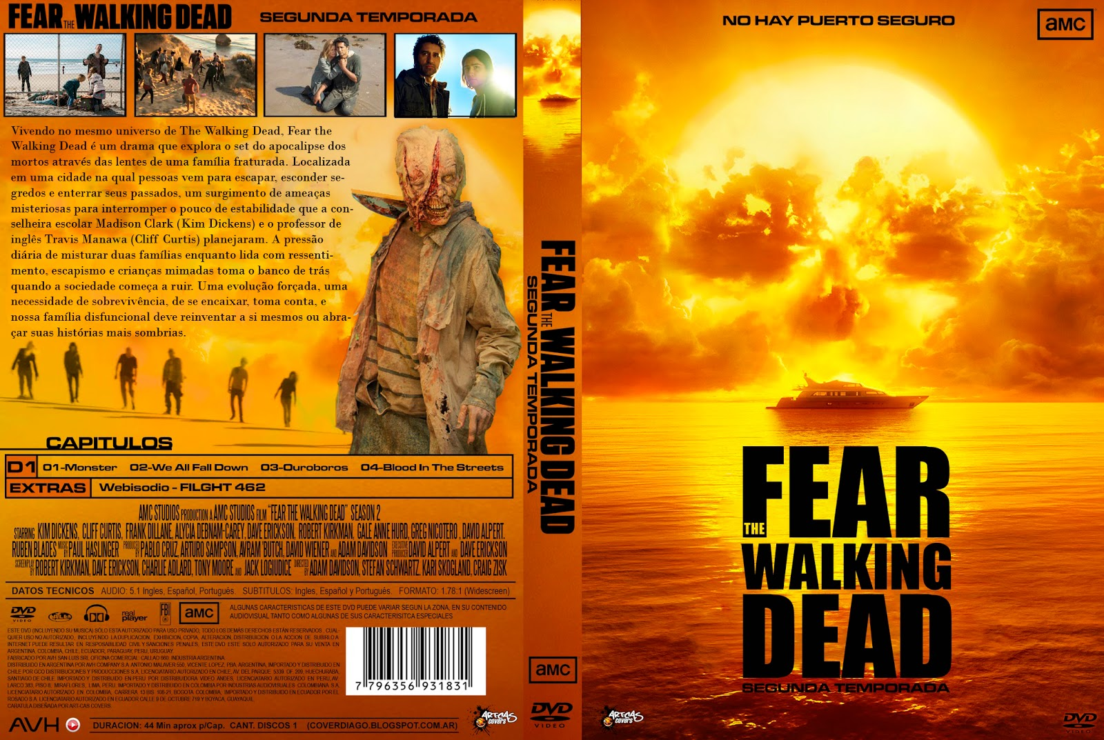 Resultado de imagem para FEAR THE WALKING DEAD SEASON 2 COVER DVD