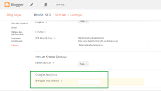Google Analytics, pasang kode analytics di blog