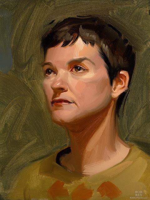 Head Study by Rob Rey - robreyfineart.com