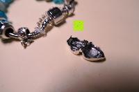 Herz entfernen: A TE® Armband Charms Damen Kristall Blau Muranoglas Blume Glasperle Mädchen Geschenk Frauen #JW-B94