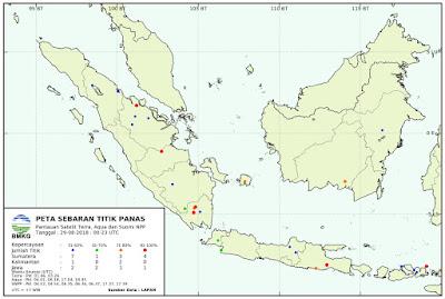 BMKG: Ada 11 titik panas di Sumatera