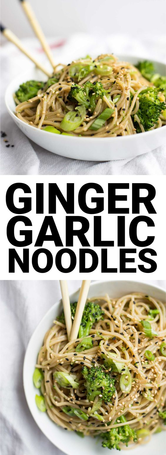 Easy Ginger Garlic Noodles