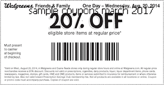 free Walgreens coupons march 2017