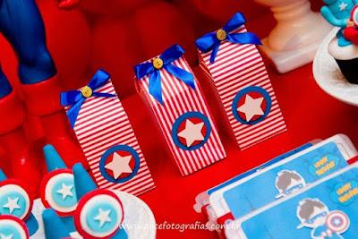 Resultado de imagem para capitão américa festa tematica infantil