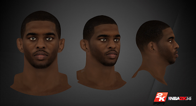 NBA 2K14 Chris Paul Cyberface Mod
