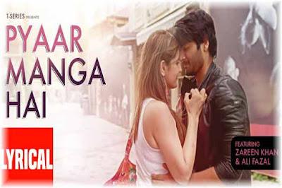 PYAAR MANGA HAI   Armaan Malik   Neeti Mohan   Lyrics Poster