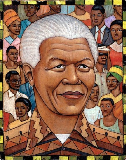 Nelson Mandela - Grandes personalidades pintada por Marc Burckhardt