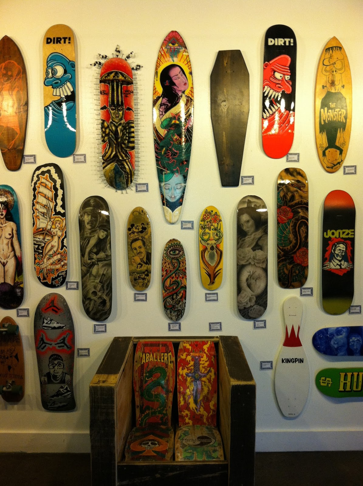 Duff Clothing Skateboard Deck Art Show At Kustom Thrills