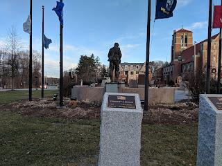 Veterans' Memorial Walkway on the Town Common