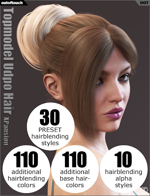 Topmodel Updo Hair and OOT Hairblending 2.0 Texture XPansion
